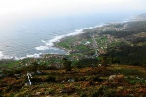 Vista da costa desde o castro