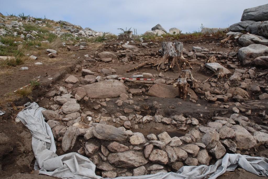 Zona norte da escavación