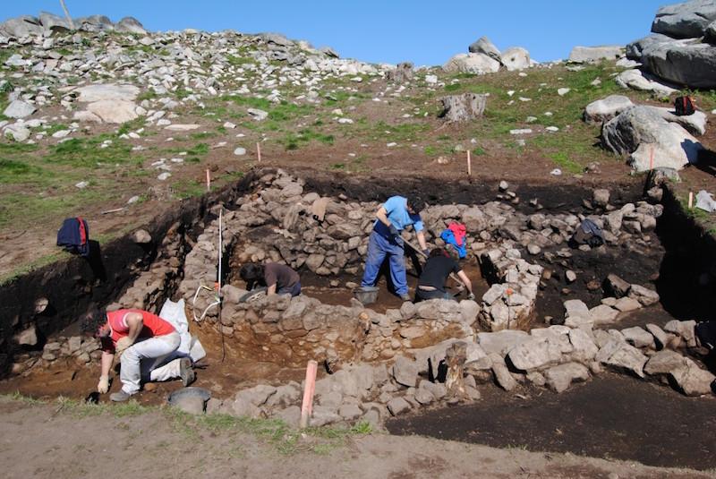 Sondeo 3 do castro da Cabeciña na escavación da Deputación de Pontevedra