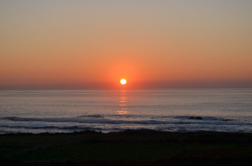 Solpor el Oia Rías Baixas Costa dos Castros