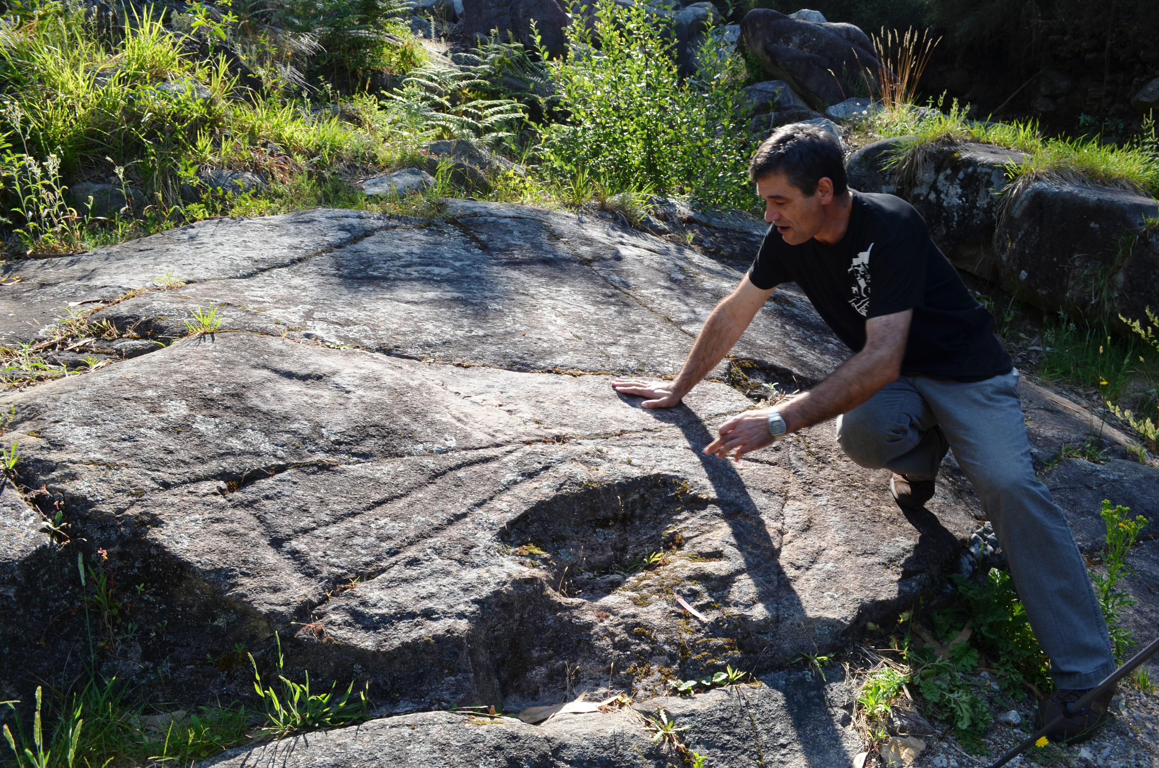 Petroglifo de Auga dos Cebros. Oia. Costa dos Castros