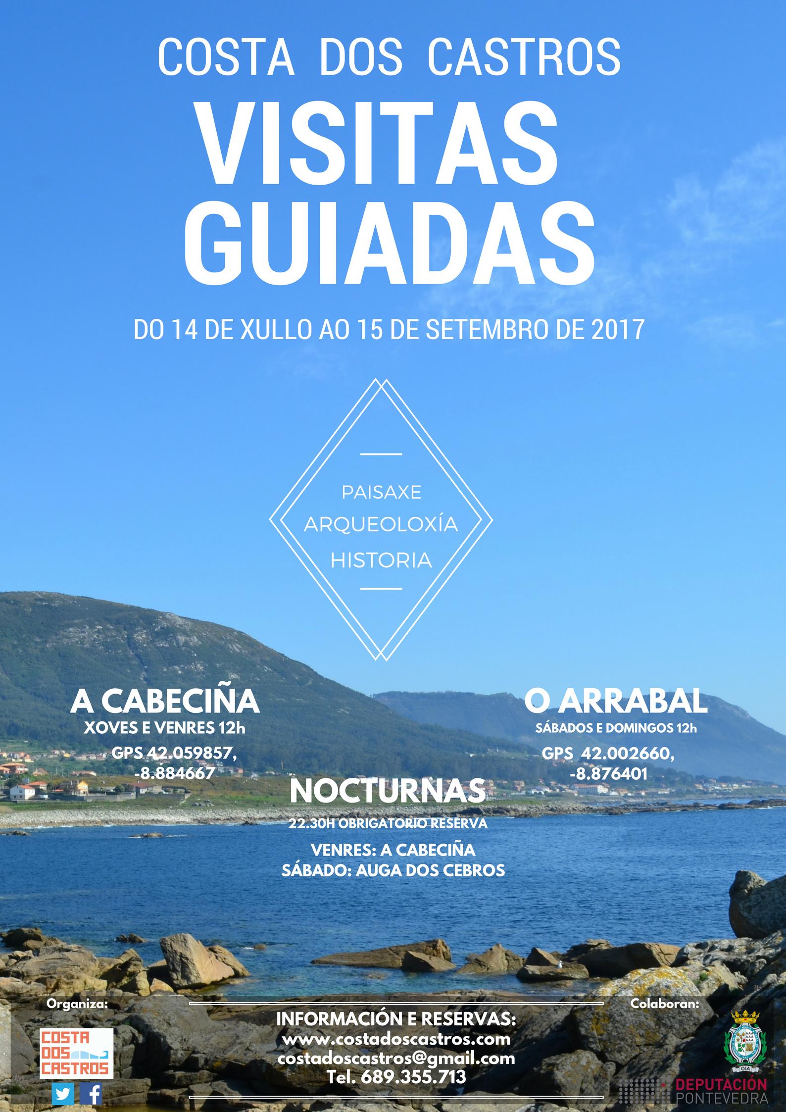 visitas guiadas gratuitas Costa dos Castros (Oia) verano 2017