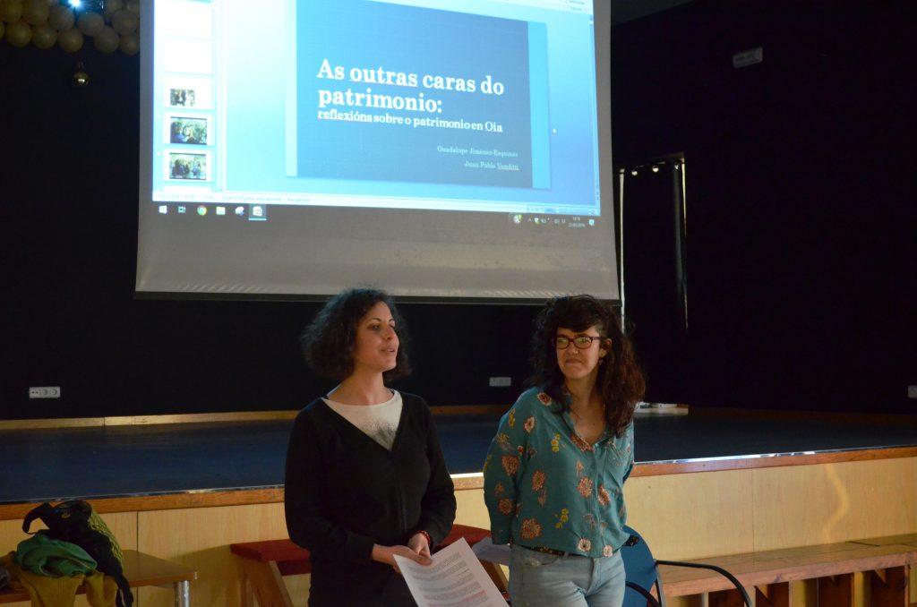Un momento da presentación de Guadalupe na Casa Cultural de Mougás.